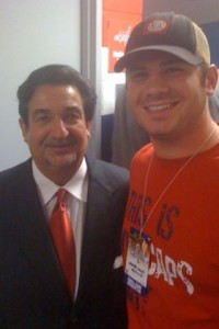 Ted Leonsis and Tanner Cooley, from http://twitpic.com/lox43