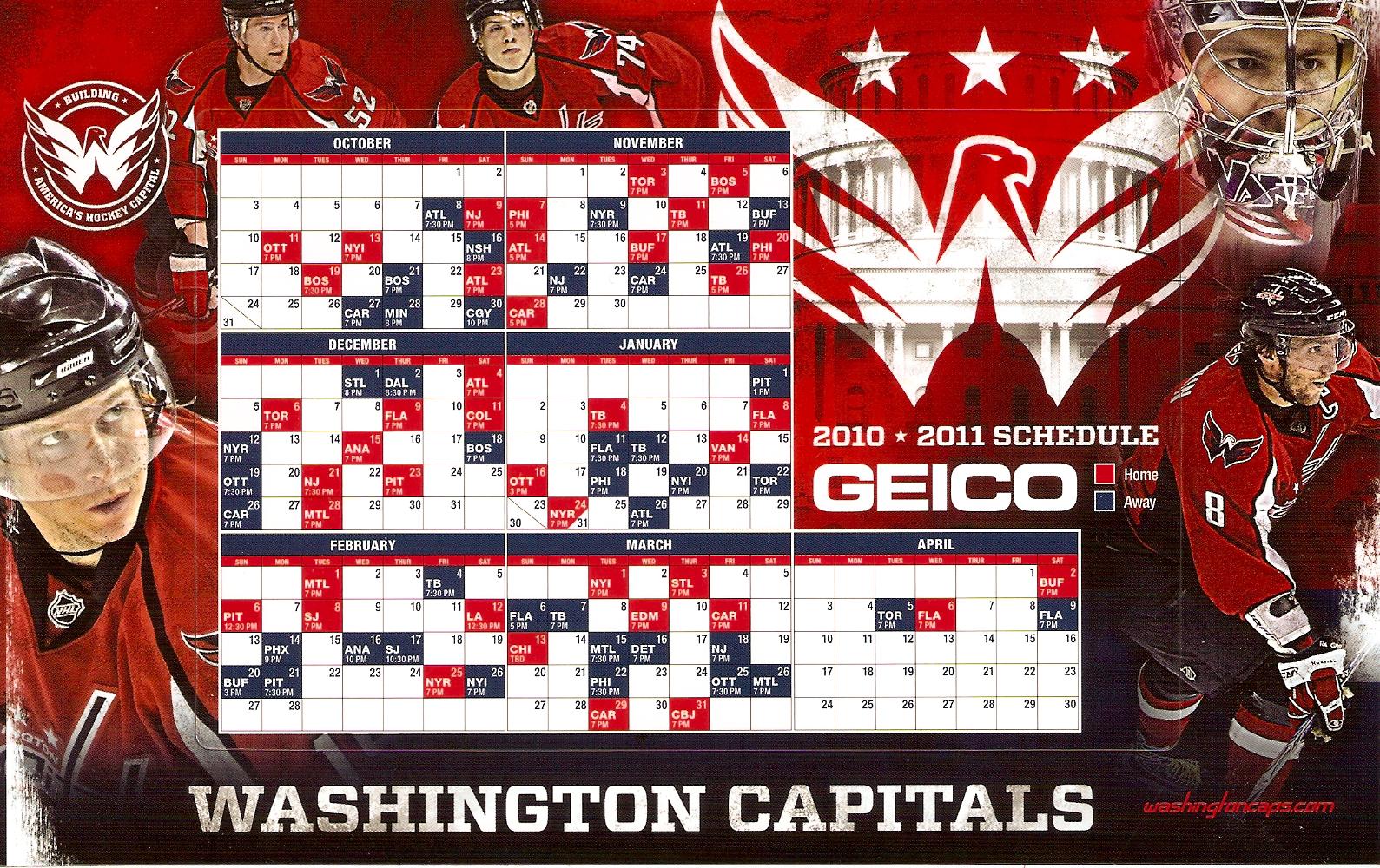2010-11 Caps Schedule Magnet - Capitals Outsider 26cb763ea8d