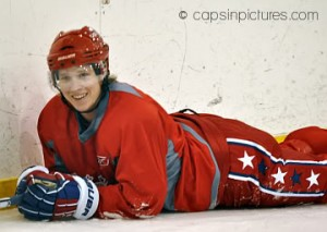 Nicklas Backstrom is happy at practice