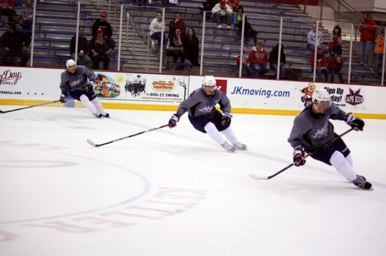 Brooks Laich, Nicklas Backstrom and Alexander Semin