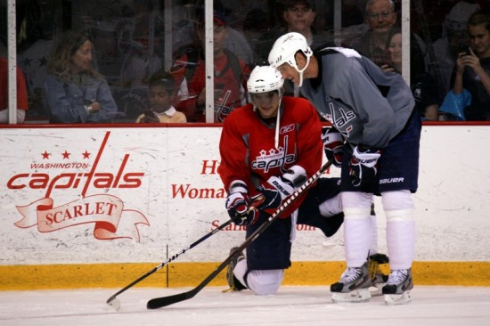 Alex Ovechkin and Brooks Laich
